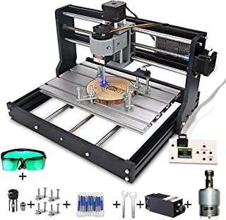 MYSWEETY 2 in 1 5500mW CNC 3018 Pro Engraver Machine, GRBL Control 3 Axis DIY CNC Router Kit with 5.5W Module, Plastic Acr...