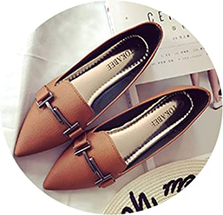 Don't mention the past Brand Pointed Toe Shallow Single Shoes Women Big Size 41 Superstar Metal Decoration Flats Shoes