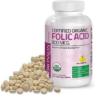 Sponsored Ad - Bronson Organic Folic Acid (Vitamin B9 Folate) 800 mcg Natural Folate from Lemon Peel 360 Tablets
