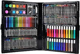 Kit de pinceaux pour aquarelle, 168 Pcs Kit de pinceaux pour aquarelle Kit de crayons pour peinture Outils de dessin Kit A...