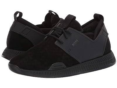 BOSS Hugo Boss Titanium Woven Sneaker by BOSS (Black) Men