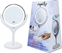 1X / 10X Lighted Magnifying Mirror Double Sided Glass for Cosmetic Vanity Makeup with Cordless LED