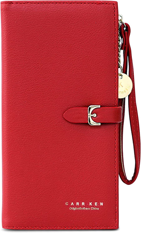 Forrica elegante portafoglio porta carte di credito per donna in pelle sintetica L-AZ01