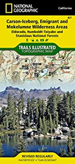 Carson-Iceberg, Emigrant, and Mokelumne Wilderness Areas [Eldorado, Humboldt-Toiyabe, and Stanislaus National Forests] (National Geographic Trails Illustrated Map (807))