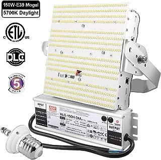 150 Watt Shoebox LED Retrofit Kit, 5700K 19,500LM (650W MH/HPS Replacement) E39 Mogul Base Parking Lot LED Lighting Workshop High Bay Retrofit Lamp with Meanwell Driver for Gym ETL DLC Listed 100-277V