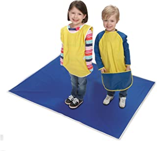 KinderMat, Blue Mess Mat, 42 x 54 Inches, Protect The Floor and Table Tops from Food or Art Supply, Multi-Purpose