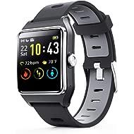 ENACFIRE Smart Watch W2 GPS Fitness Tracker IP68 Waterproof Smartwatch, Heart Rate Monitor, Sleep...
