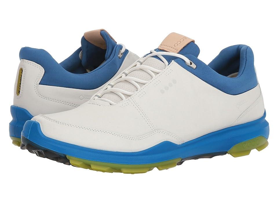 ECCO Golf Biom Hybrid 3 GTX (White/Kiwi) Men's Golf Shoes