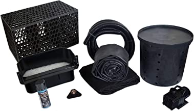 HALF OFF PONDS Simply Waterfalls 3000 Pond Free Waterfall Kit with MatrixBlox, with 10 ft by 15 ft EPDM Liner and 3,000 GPH Aqua Pulse Series Submersible Pump - PSANB2