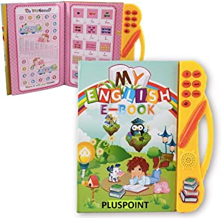 PLUSPOINT ABC Sound Book for Children, English Letters & Words Learning Book, Fun Educational Toys. Activities with Number...