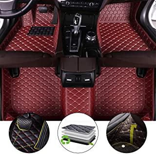 for 2011-2018 Jeep Grand Cherokee Floor Mats Full Protection Car Accessories Wine Red 3 Piece Set