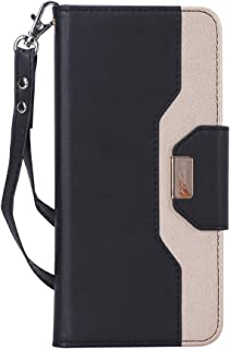 ProCase Wallet Case for LG V40, Flip Kickstand Case with Card Holders Mirror Wristlet, Folding Stand Protective Cover for LG V40 ThinQ 2018 Release -Black