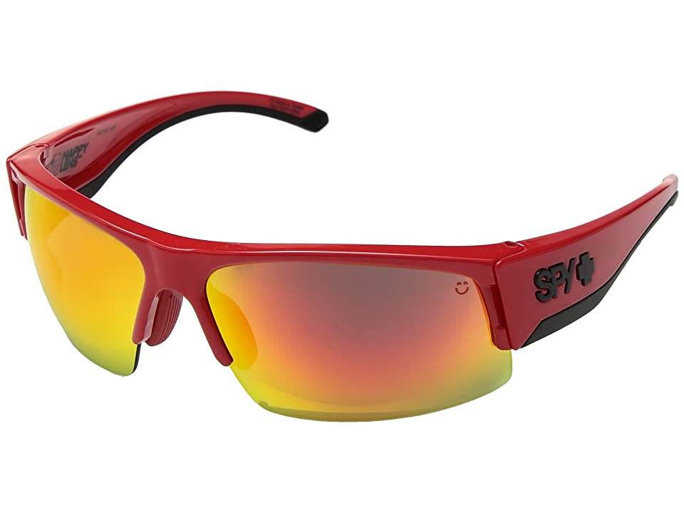 Spy Optic Flyer (Red/Happy Gray Green w/ Red Spectra) Fashion Sunglasses