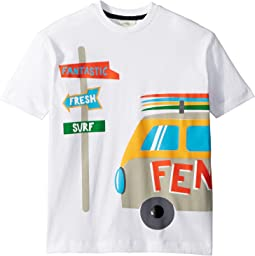 Fendi Kids - Short Sleeve Logo Surf Van Graphic T-Shirt (Little Kids)