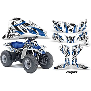 AMR Racing ATV Graphics kit Sticker Decal Compatible with Yamaha Suzuki LT-R450 2006-2009 NorthStar Blue White