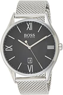 Hugo Boss Mens Quartz Watch, Analog Display and Stainless Steel Strap 1513601