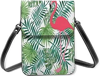 Flamingo Palm Leaves Fondo Pequeño Teléfono Celular Monedero