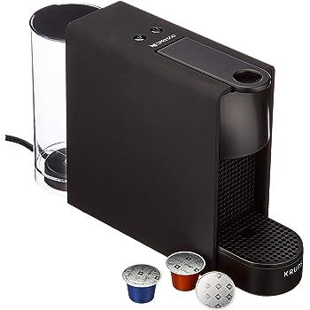 Cafetera de cápsulas Krups ESSENZA MINI color Negro Mate XN110N10 compatible con Nespresso - Ultracompacta, 19 bares de presión, calentamiento rápdio 25 seg, modo ahorro (Incluye pack 14 cápsulas): Amazon.es: Hogar
