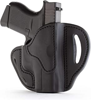 1791 GUNLEATHER Glock 43 Holster, Right Hand OWB G43 Leather Gun Holster for Belts. Fits Glock 43 and Ruger LC9 & Ruger SR22 (BHC)