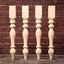 "Carolina Leg Co. Knotty Pine Chunky Farmhouse Table Legs - Set of 4, 3.5"" x 3.5"" x 29"", Unfinished"