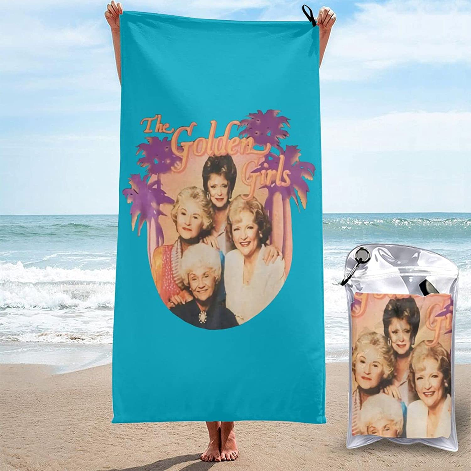 The Golden Girls Store 3D Printed Large Qu Towels Sand-Free are Beach Mail order