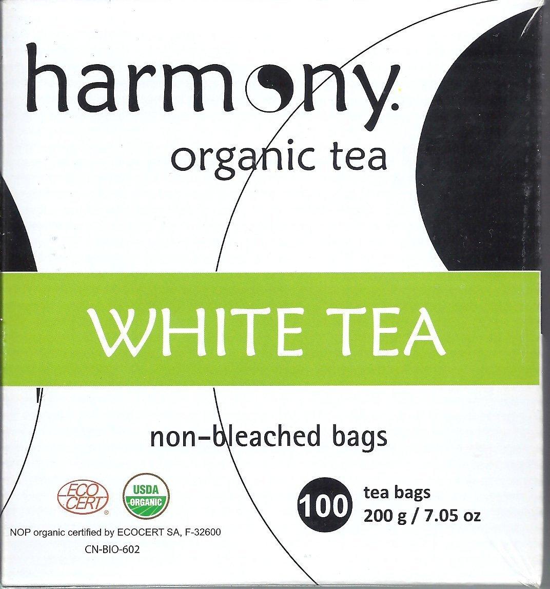 Quantity limited El Paso Mall Harmony ORGANIC WHITE TEA 100 7.05 Tea Bags 200g