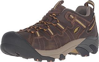 Keen Men's Targhee II Waterproof Mid Wide Hiking Boot, Cascade Brown/Golden Yellow, 17 Wide