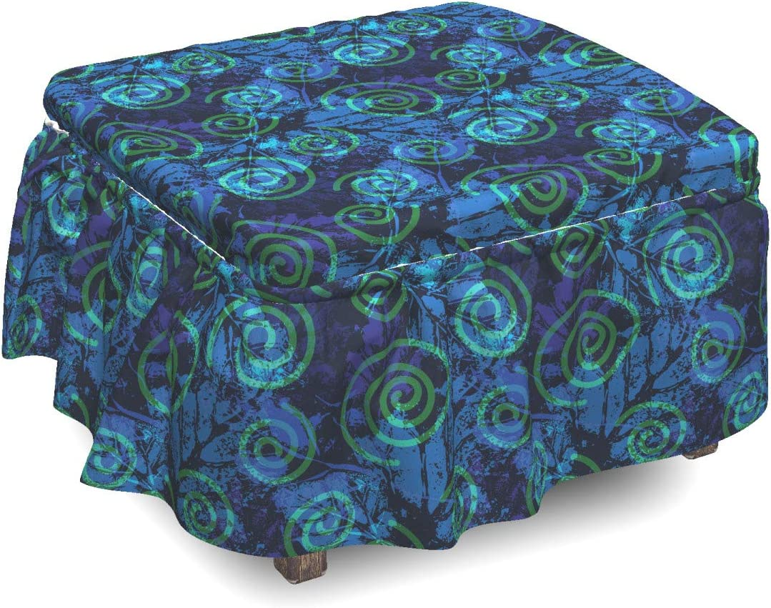 Ambesonne Abstract Ottoman Cover Imprints Pattern of Leafs Max 81% OFF Now on sale P 2