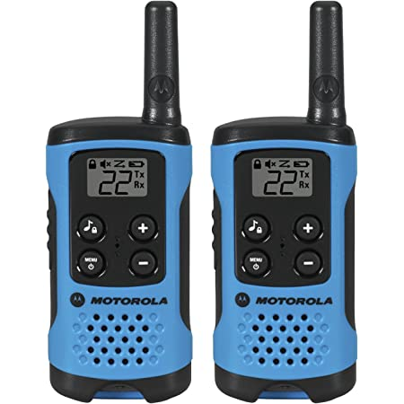 Motorola T100Talkabout Radio, Paquete de 2, T100, Paquete de 2, T100 2 Pack, Azul
