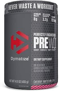 Dymatize Pre Workout Supplement Powder, Maximize Energy & Strength, Cherry Watermelon, 400 Gram