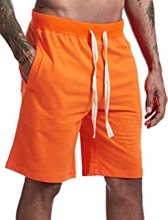Arloesi Mens Casual Shorts Cotton Comfy Jogger Sweat Short with Pockets