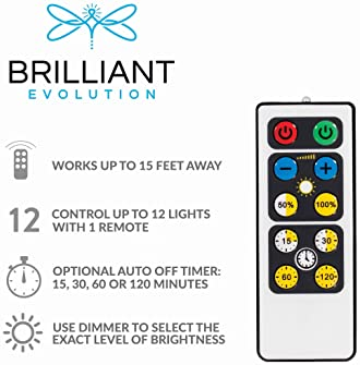Brilliant Evolution BRRC124IR Wireless LED Light Bar with Remote Control | Battery Operated Lights | Remote Control L...