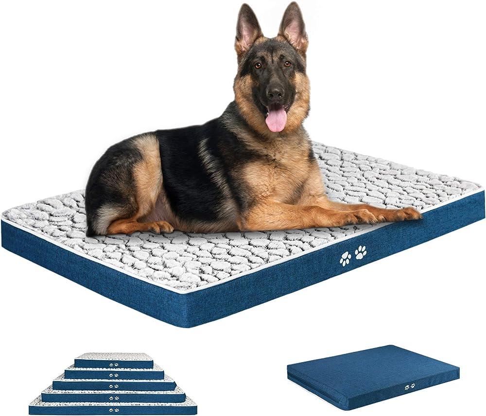 Kroser, letto per cani, in morbido peluche auto-riscaldante, lavabile, taglia xxl, 122cm x 76cm x 7,6cm