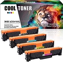 Cool Toner Compatible Toner Cartridge Replacement for HP 305A 305X CE410X CE411A CE412A CE413A for HP Laserjet Pro 400 Toner Laserjet M451dn M451nw MFP M475dn, LaserJet Pro MFP M476nw M476dn M476dw