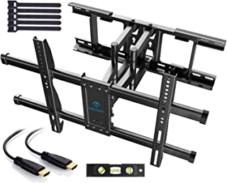 PERLESMITH テレビ壁掛け金具 大型 37-70インチ対応 アーム式 耐荷重60kg LCD LED 液晶テレビ用 前後&左右&上下多角度調節可能 VESA600x400mm HDMIケーブル付き (大型)