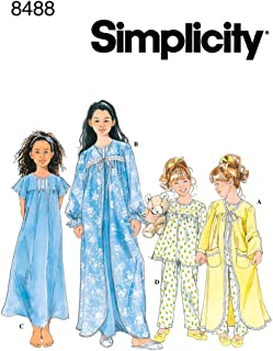 Simplicity Sewing Pattern 8488 Child/Girl Sleepwear, HH (3-4-5-6)