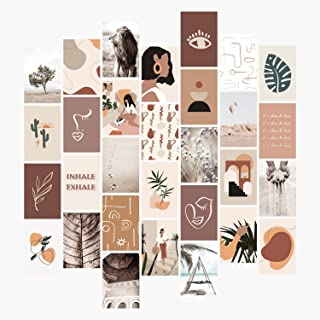 YUMKNOW Aesthetic Wall Collage Kit - 4x6 inch Set of 30, Teen Girl Room Decor for Bedroom Dorm, Boho Mid Century Modern De...