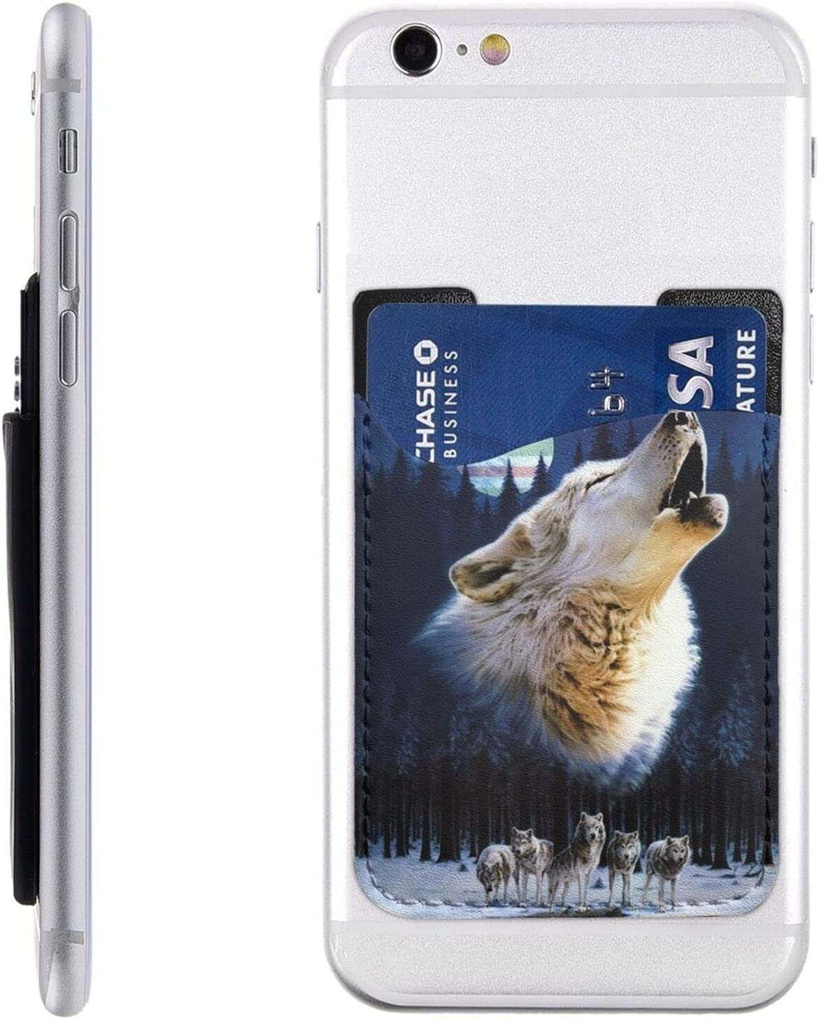 Wolf Phone latest Card Holder Cell Popular overseas Wallet On Mo Sleeve Stick