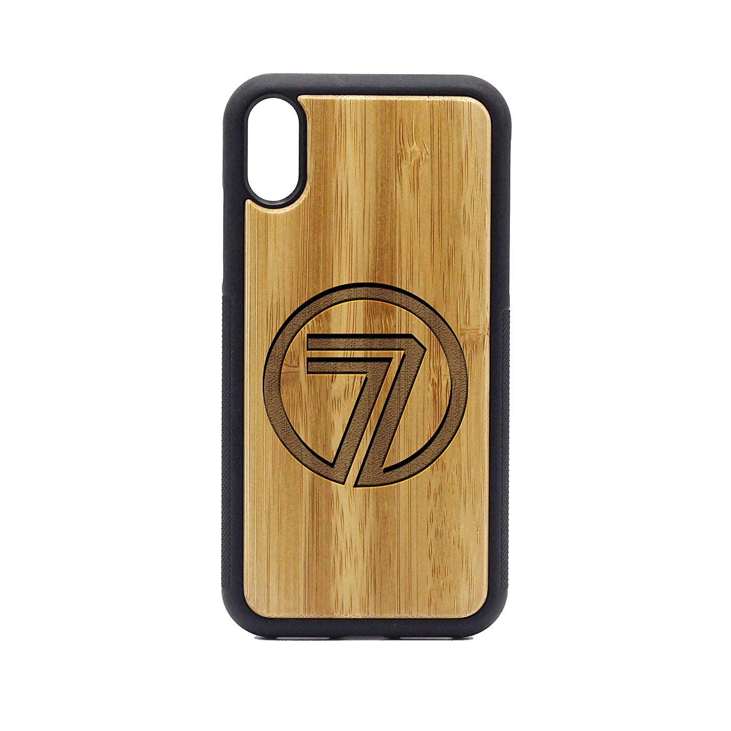 Logo 7 TV - iPhone XR Case - Bamboo Premium Slim & Lightweight Traveler Wooden Protective Phone Case – Unique, Stylish & Eco-Friendly - Designed for iPhone XR