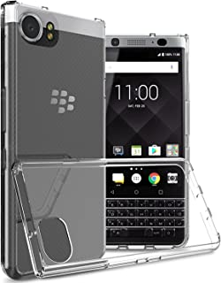 Tektide Case Compatible for BlackBerry KEYone, [Invisible Armor] Xtreme Slim, Clear, Soft, Lightweight, Shock Absorbing TPU Rubber Bumper Case/Back Cover