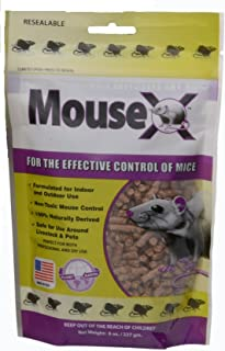EcoClear Products 620200-6D MouseX All-Natural Non-Toxic Humane Mouse Killer Pellets, 8 oz. Bag
