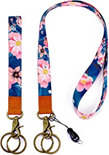 with ID Holder Key Chain Wrist Strap Badge Mobile Phones Wallets Car Key Lanyards Durable Premium Quality Wristlet Strap Neck Cool Lanyard (2 Pack)