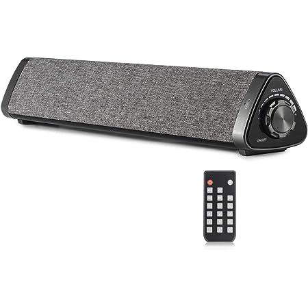 Koolertron Lautsprecher Soundbar Tv Sound Bar Pc Lautsprecher Wireless Bluetooth Soundbar Tragbare Stereo Usb Soundbar 2 X 5 W Compact Mit Fernbedienung Subwoofer Für Tv Handy Tablet Pc Audio Hifi