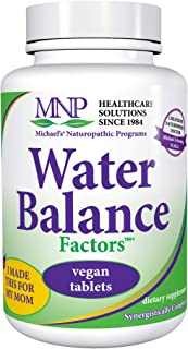 Michael's Naturopathic Programs Water Balance Factors - 90 Vegan Tablets - Fluid Balance Support Supplement, Weight Manage...