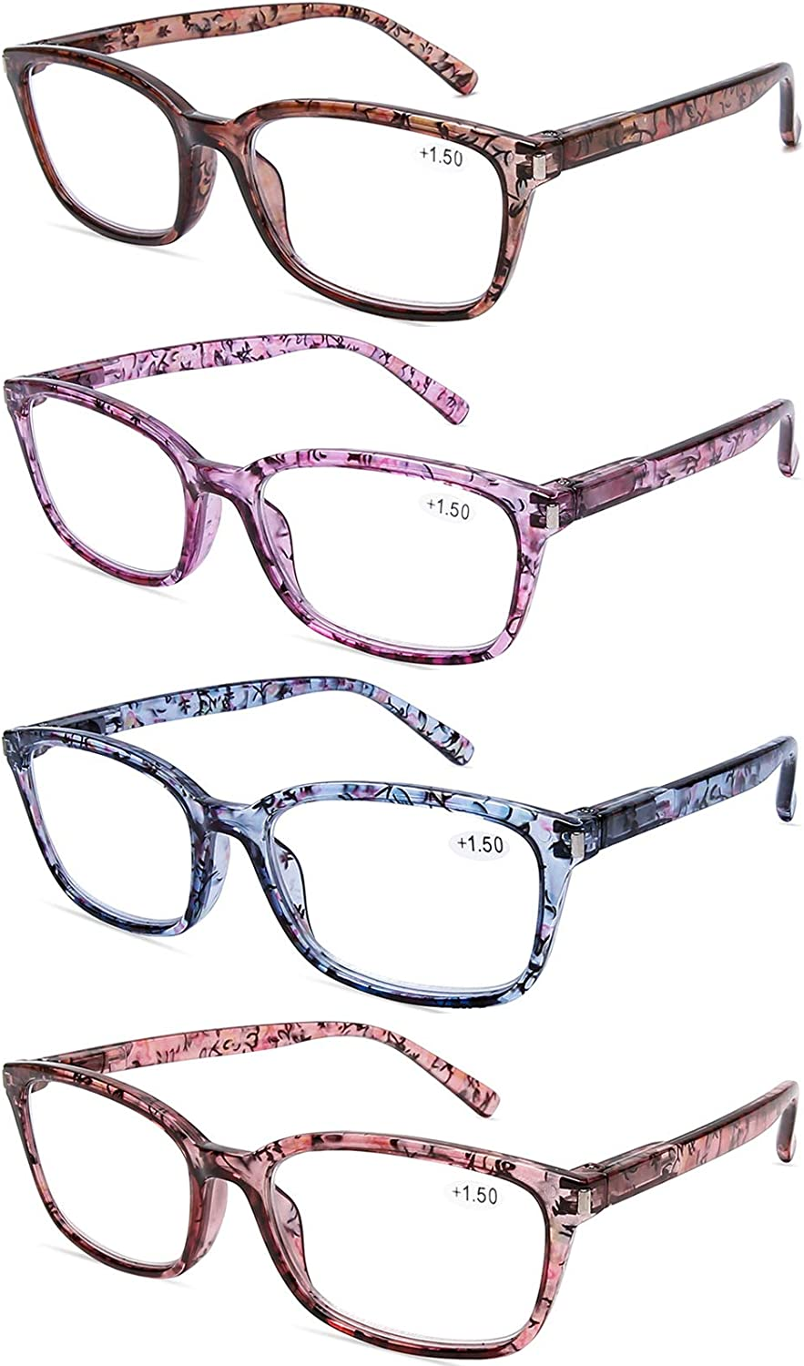DOOViC 4 Pack Computer Reading Blue Light Portland Mall Popular shop is the lowest price challenge Blocking Glasses Anti