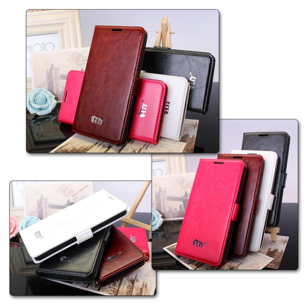 Pdncase Funda de Cuero para LG G3 LG-F400 Wallet case cover Color Negro: Amazon.es: Electrónica