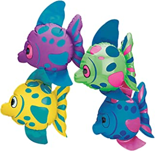 Fun Express Mini Inflatable Fish (Set of 12) sea Themed Party Decorations