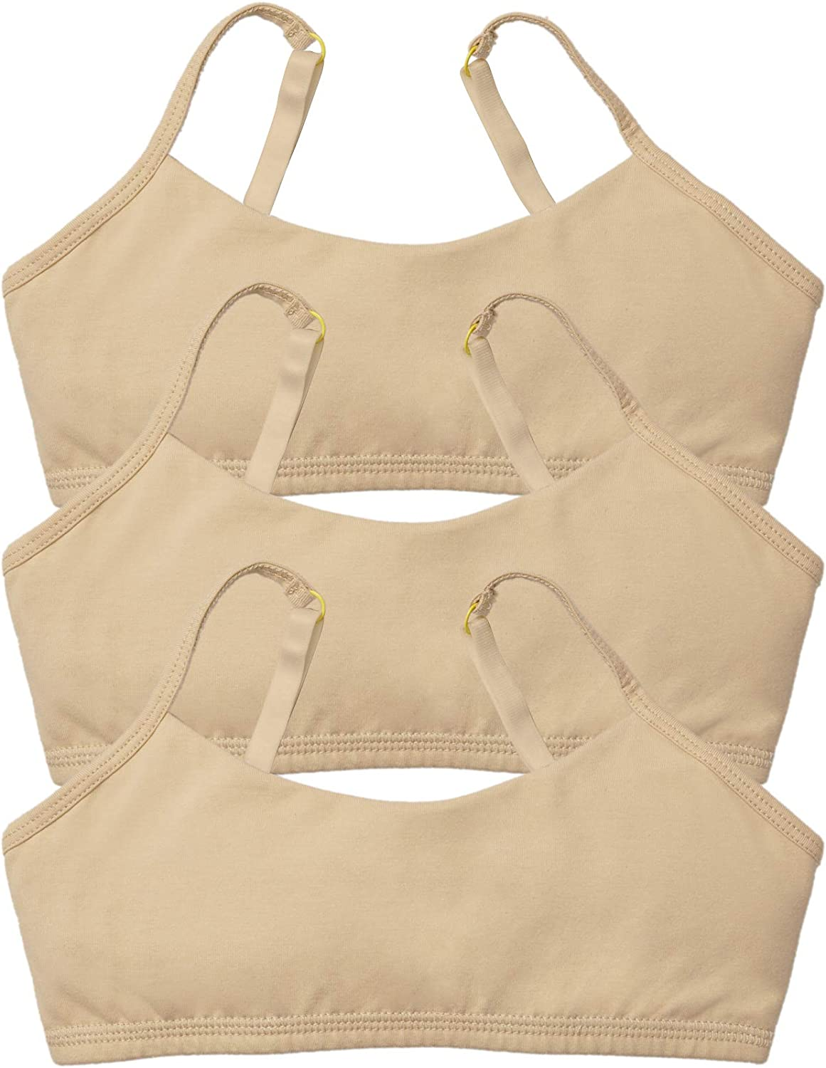 Yellowberry Best First Cotton Training Bra Bundle Bras Ladybug Gimme S'More - Great First Bras for Girls Tweens and Teens