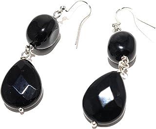 Orecchini in pietra dura onyx nero