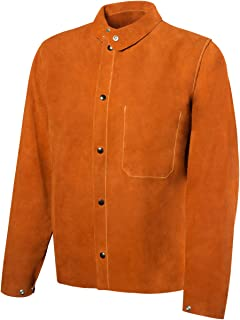 """23/"""" Sleeves Steiner Industries 92181 Weld-Rite Premium Brown Split Cowhide"""